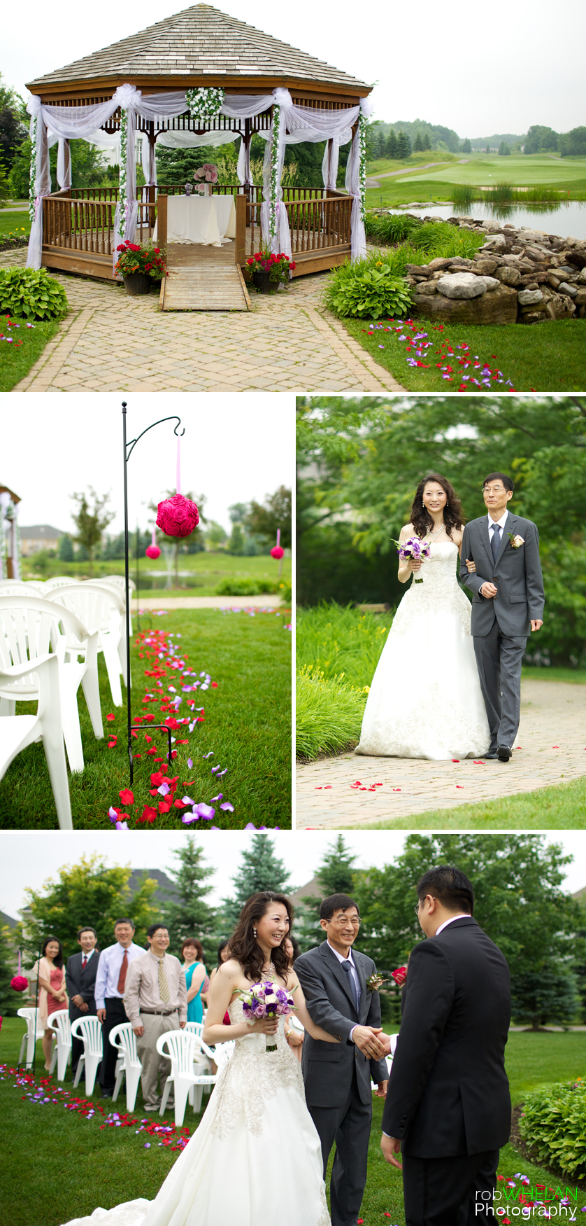 Stonebridge G Cc Outdoor Wedding Ceremony Rose Petals Golf D Rings Candid Natural Smile